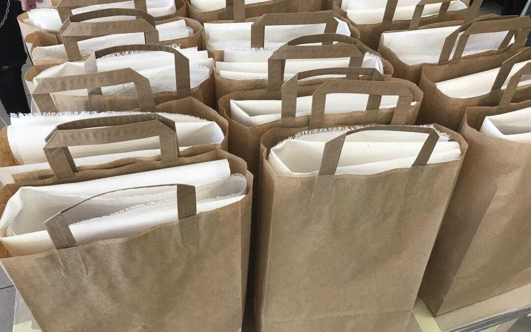 Material für Mundschutz kostenlos abzuholen