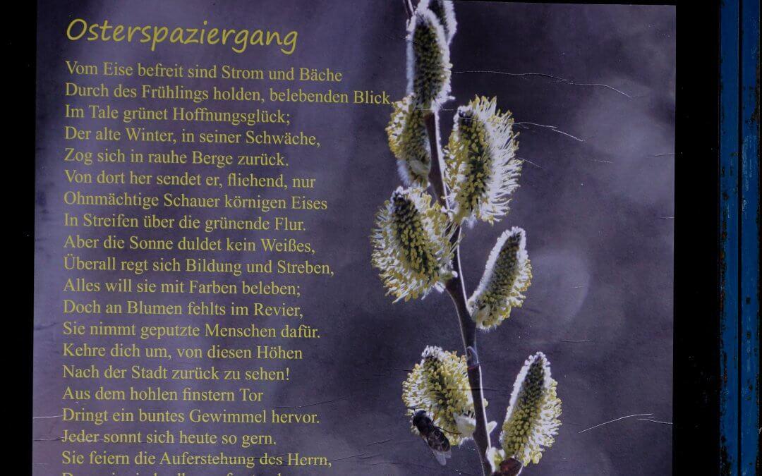 Gedichte im Kosmosviertel / Osterspaziergang von J. W. von Goethe