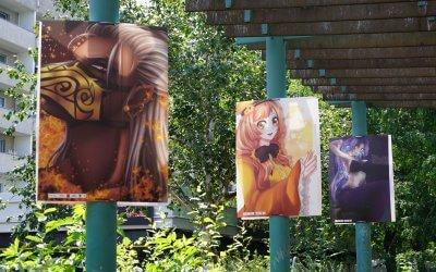 Manga-Open-Air-Ausstellung im Kosmosviertel